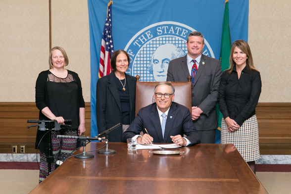Gov Jay Inslee signs bill