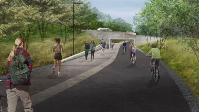 Burke Gilman Trail rendering